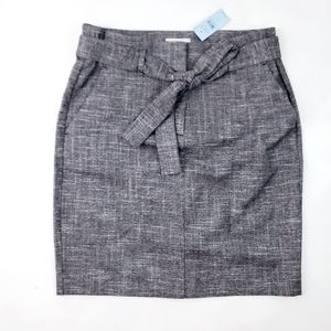 Ann Taylor Loft NWT Tie Front Highwaisted Skirt